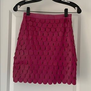 Blaque Lable- leatherette pink mini skirt